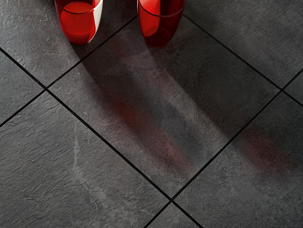 Slate vinyl floor tiles