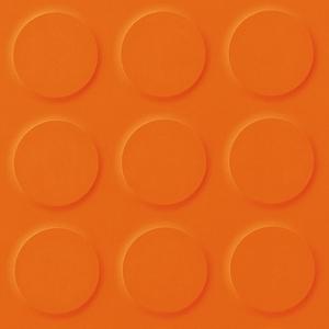 Orange Orange Coloured Synthetic Rubber Tile Flooring Saarfloor