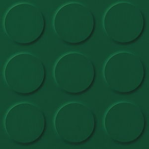 Green Baize Green Coloured Synthetic Rubber Tile Flooring