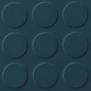 Deep Blue Blue Coloured Synthetic Rubber Tile Flooring