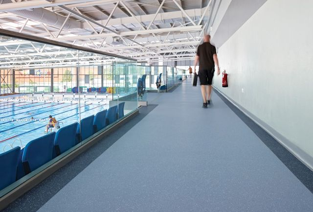 Cardiff International Pool Case Study Polyflor